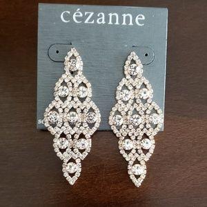 Chandelier rose gold diamond earrings